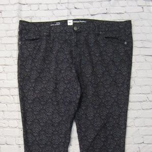 Mossimo Size 18 Fit 3 Skinny Black & Gray Jeans